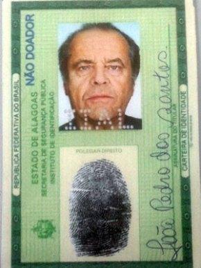 Acredite se quiser: Homem é preso no Recife por apresentar RG com foto de JackNicholson