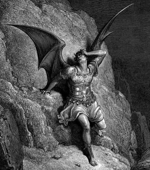 Gustave Doré, Representação de Satanás, a personagem central de Paraíso Perdido de John Milton